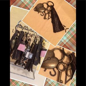 Accessories - Upcycled designer key chain/charm ( heart )
